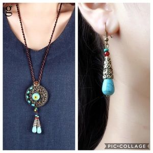 Set of Necklace and Earrings Bohemian